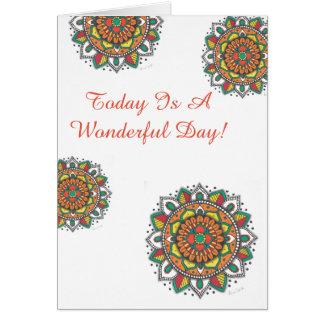 すばらしい日のハッピーバースデーの曼荼羅 カード