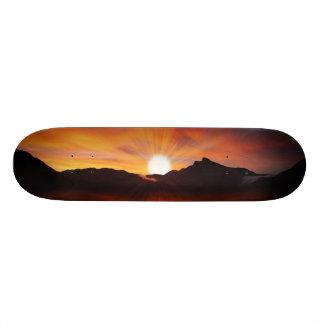 すばらしい日没のデザイン スケートボード