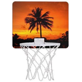 すばらしい日没 ミニバスケットボールゴール