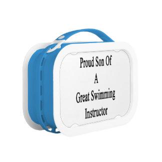 すばらしい水泳のインストラクターの誇り高い息子 ランチボックス