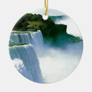 すばらしい滝の眺め セラミックオーナメント