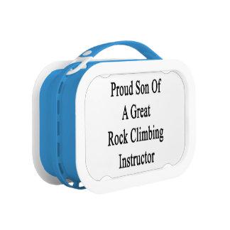 すばらしい石の登山のインストラクターの誇り高い息子 ランチボックス