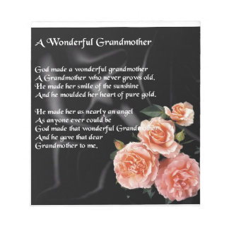 すばらしい祖母の詩-黒の花 ノートパッド