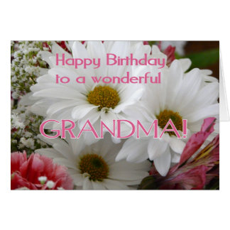 すばらしい祖母へのハッピーバースデー! -デイジー カード
