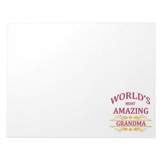 すばらしい祖母 ノートパッド