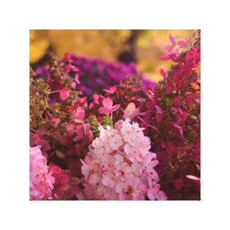 すばらしい秋の花柄 キャンバスプリント