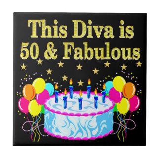 すばらしい第50パーティーのお祝いのデザイン タイル