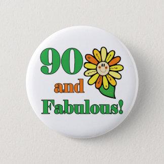 すばらしい第90誕生日プレゼント 5.7CM 丸型バッジ