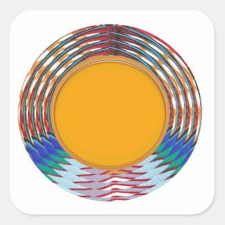すばらしい紋章のタイプディスク金ディスクnボーダー スクエアシール