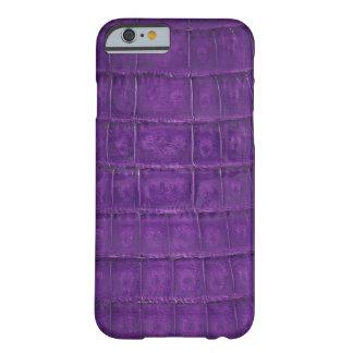 すばらしい紫色のわにプリント BARELY THERE iPhone 6 ケース
