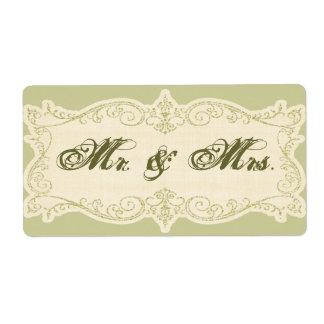 すばらしい結婚式招待状の差出人住所ラベル ラベル