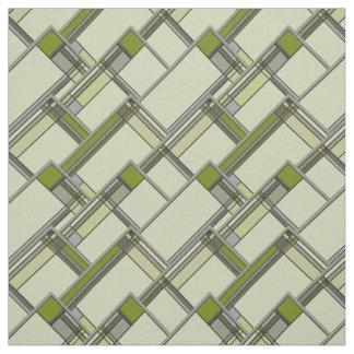 すばらしい緑の芸術及び技術の幾何学的なパターン ファブリック