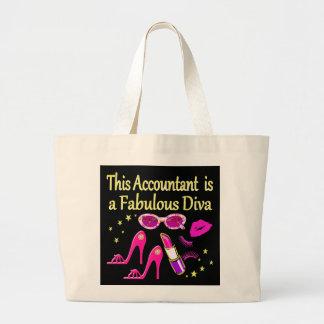 すばらしい花型女性歌手の会計士の花型女性歌手 ラージトートバッグ