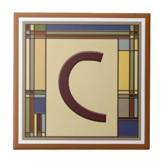 すばらしい芸術及び技術の幾何学的なイニシャルC タイル