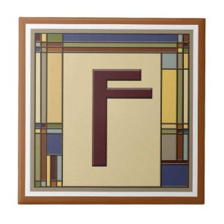 すばらしい芸術及び技術の幾何学的なイニシャルF タイル