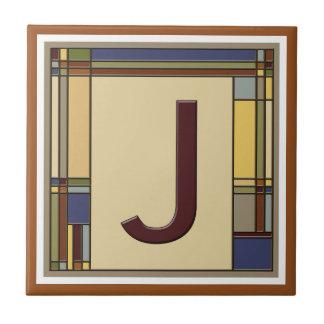 すばらしい芸術及び技術の幾何学的なイニシャルJ タイル
