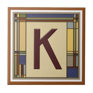すばらしい芸術及び技術の幾何学的なイニシャルK タイル