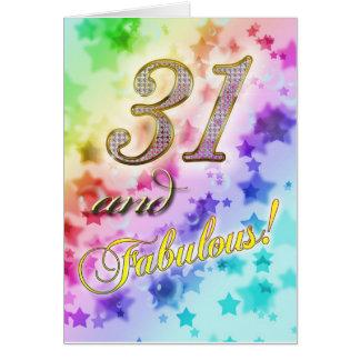 すばらしい誰かのための第31誕生日 カード