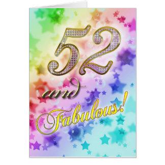 すばらしい誰かのための第52誕生日 カード