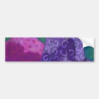 すばらしい隠れ場所の-紫色およびマゼンタの天国 バンパーステッカー