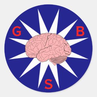 すばらしい頭脳の社会のロゴのステッカー ラウンドシール