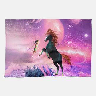 すばらしい馬および妖精 キッチンタオル