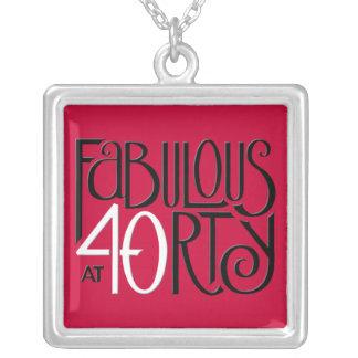 すばらしい40の白黒の赤の広場のネックレス シルバープレートネックレス