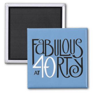すばらしい40の白黒の青の磁石 マグネット