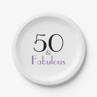 すばらしい50枚の誕生会のスタイリッシュな紙皿 ペーパープレート