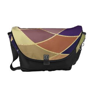 すばらしくカラフルな抽象デザイン メッセンジャーバッグ