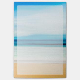すばらしくリラックスさせるな砂浜の青空の地平線 ポストイット