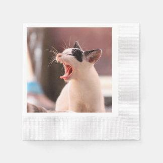 すばらしく危ない猫 縁ありカクテルナプキン