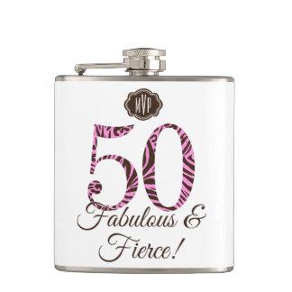 すばらしく及び激しいモノグラムの第50誕生日 フラスク