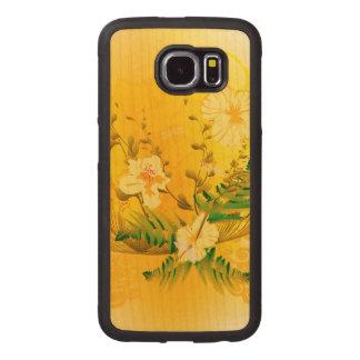 すばらしく柔らかく黄色い花 ウッドケース