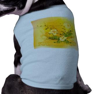 すばらしく柔らかく黄色い花 ペット服