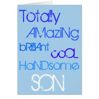 すばらしく華麗でクールでハンサムな息子のハッピーバースデー カード
