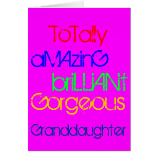 すばらしく華麗で豪華な孫娘の誕生日 カード