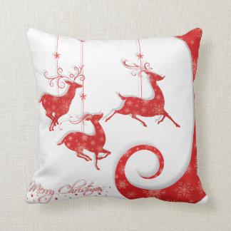 すばらしく赤いクリスマスのデザイン クッション