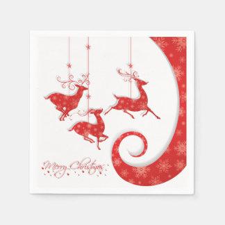 すばらしく赤いクリスマスのデザイン スタンダードカクテルナプキン