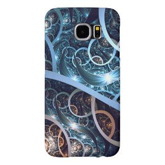 すばらしく青いフラクタルの芸術 SAMSUNG GALAXY S6 ケース