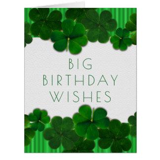 すべてからのアイルランドの誕生日の女の子または人大きいカード カード
