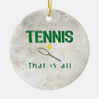 すべてであるテニス セラミックオーナメント