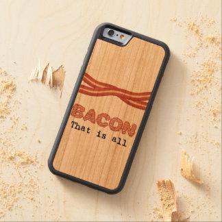 すべてであるベーコン CarvedチェリーiPhone 6バンパーケース