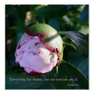 すべてに花との美しいの孔子の引用文があります ポスター