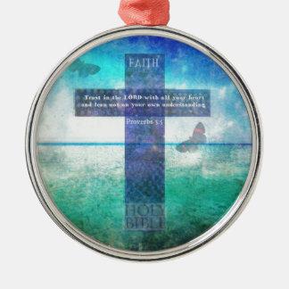 すべてのあなたのハートの主の諺の3:5の信頼 メタルオーナメント