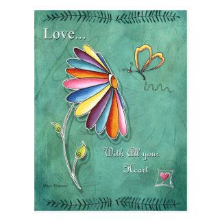 すべてのあなたのハートの郵便はがきとの愛 ポストカード