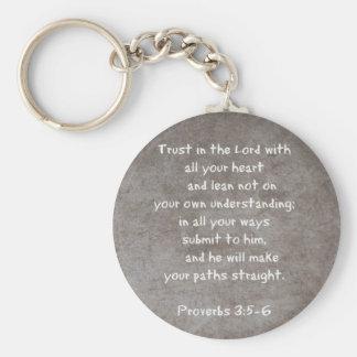 すべてのあなたのハートの…諺3を用いる主で信頼して下さい キーホルダー