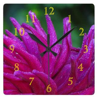 すべてのすみれ色の花 スクエア壁時計