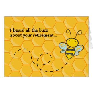 すべてのぶんぶん言う音のかわいい蜂の退職を聞きました カード