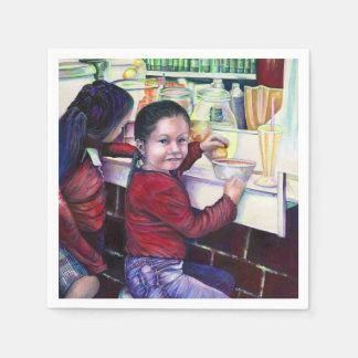 すべてのよい小さな女の子はアイスクリーム、メキシコを得ます スタンダードカクテルナプキン